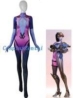 Widowmaker Kostium Cosplay Kostium Elastan Kobiet/Kobiety/Dziewczyny Body 3D Drukuj Lady Zentai Catsuit