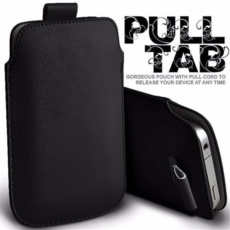For Lenovo S850 Case Sleeve Leather Pull Tab Pouch Phone Cases Bag For Lenovo S 850 S850T Pocket Rope Holster Cover bags Fundas