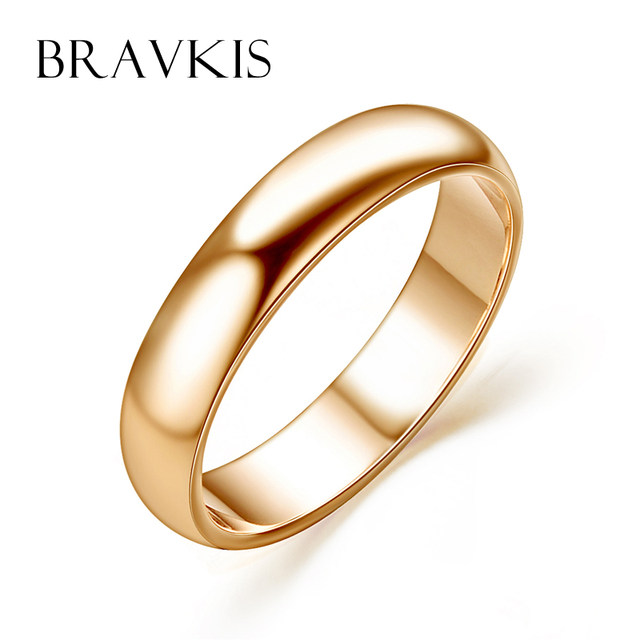 Online Shop BRAVEKISS simple plain wedding band engagement rings for