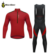все цены на WOSAWE long sleeve cycling jersey set spring mtb bike wear cycling clothes ropa maillot ciclismo bicycle clothing cycling set онлайн