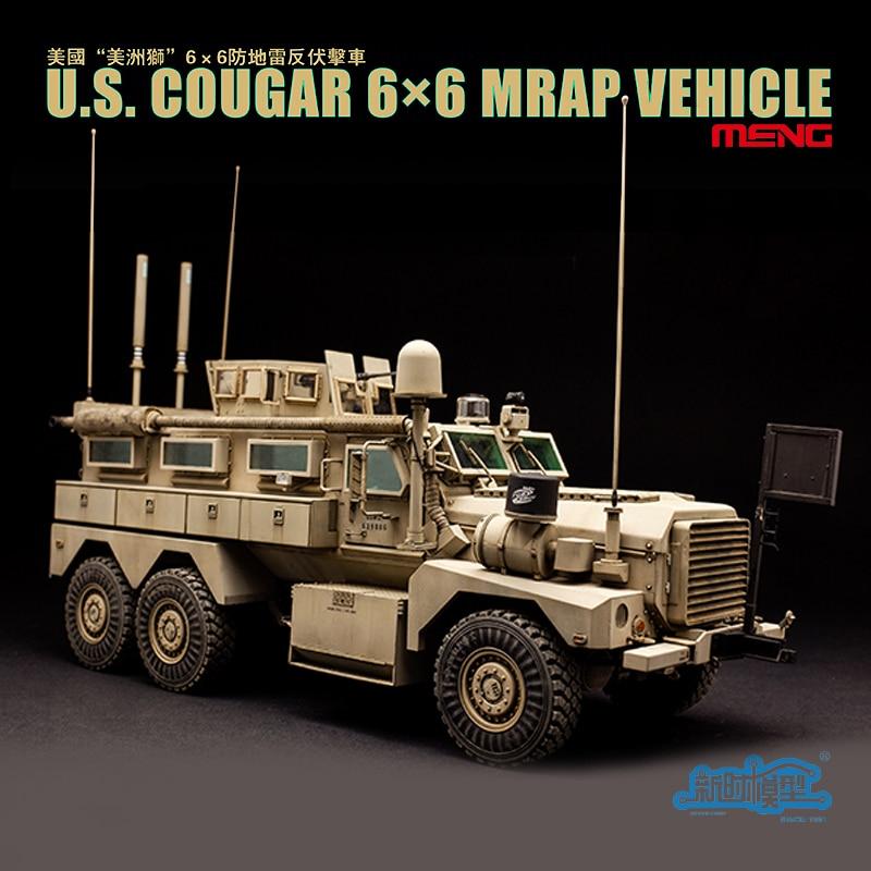 все цены на SS-005 1/35 US Cougar Mrap American 6X6 Wheeled Armored Vehicle Model Building Kits Model Toy онлайн