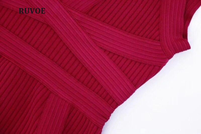 All'ingrosso 2018 A Rosso Delle Vestito Dalla Con Di M Estate Bordeaux Rayon Donne Scollo Qualità Nuove Alta Signore Mini Fasciatura V Aderente 0aqwwAH