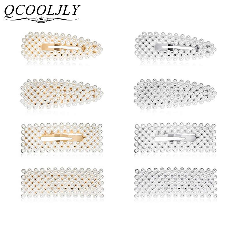 Fashion Elegant Crystal Rhinestones Hair Clips Metal Hairpin Hair Accessories Hair Jewelry for Women Letters Hairgrip Headwear