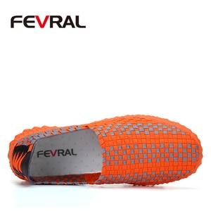 Image 4 - FEVRAL zapatos de tejido hechos a mano para mujer, mocasín clásico, cómodos, sin cordones, planos, informales