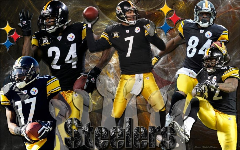 b918ac615d6 Qunexc PITTSBURG STEELERS nfl football team Home Decoration Canvas Poster  Print 24x36 inch Silk Poster wall decor-in Painting & Calligraphy from Home  ...