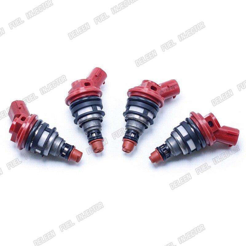 High Impedance 4PCS SET 1000CC Side Feed Fuel Injectors SUBARU WRX STI MY99 EJ20 E85 EJ25 2004 2012 Forester Fast shipping