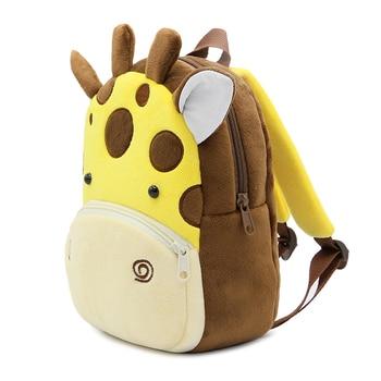 2020 3D Cartoon Animal Plush Children Backpack Kindergarten 3