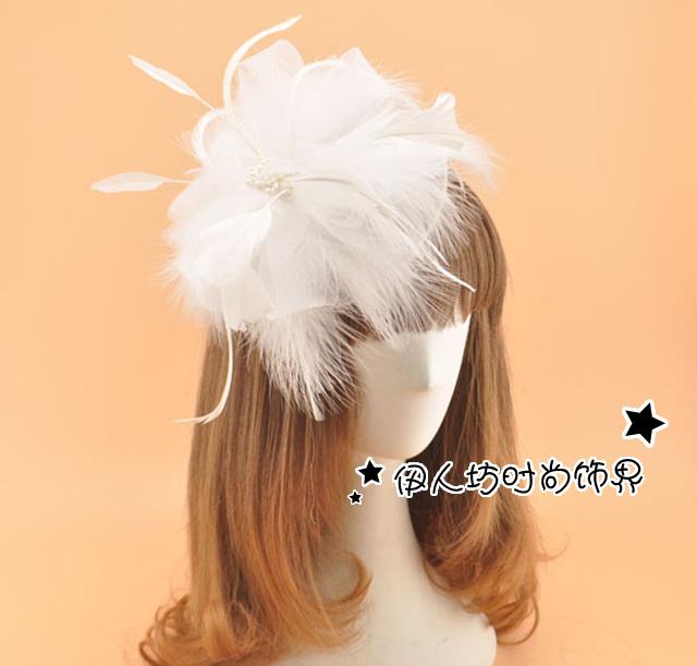 Acessórios de cabelo de noiva de noiva do Vintage chapéus frete grátis barato Modest 20 venda quente frete grátis