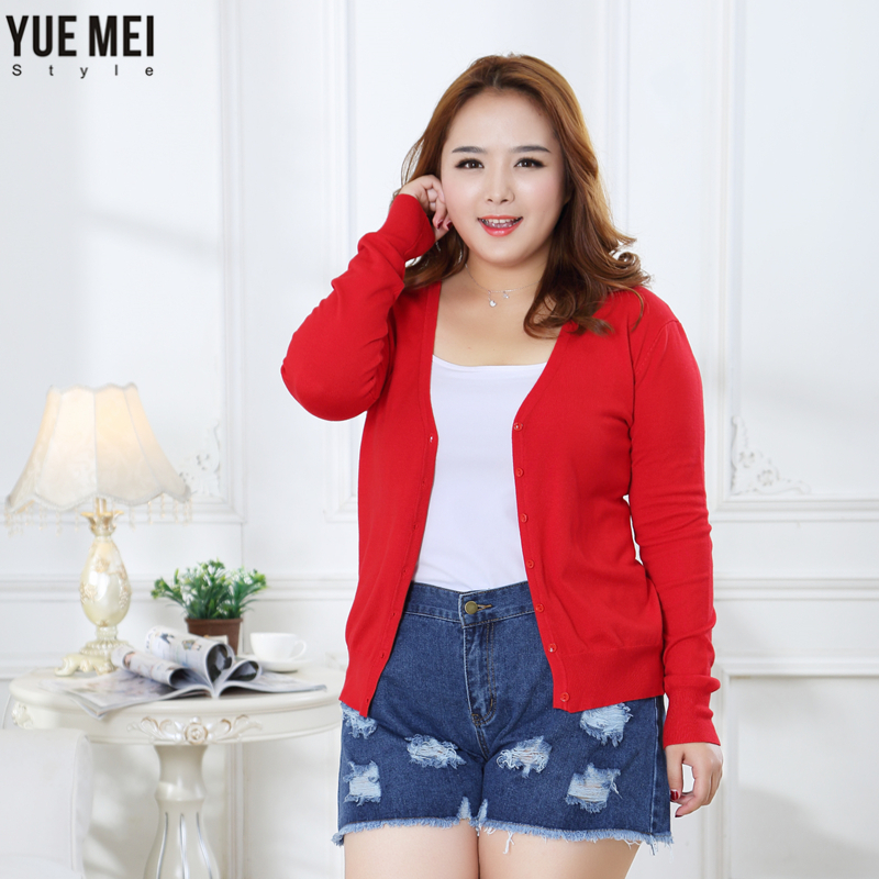 Sweater Women Cardigan plus size Knitted Sweater Coat Crochet Female Casual V Neck Woman Cardigans Tops 4XL 5XL in Cardigans from Women 39 s Clothing