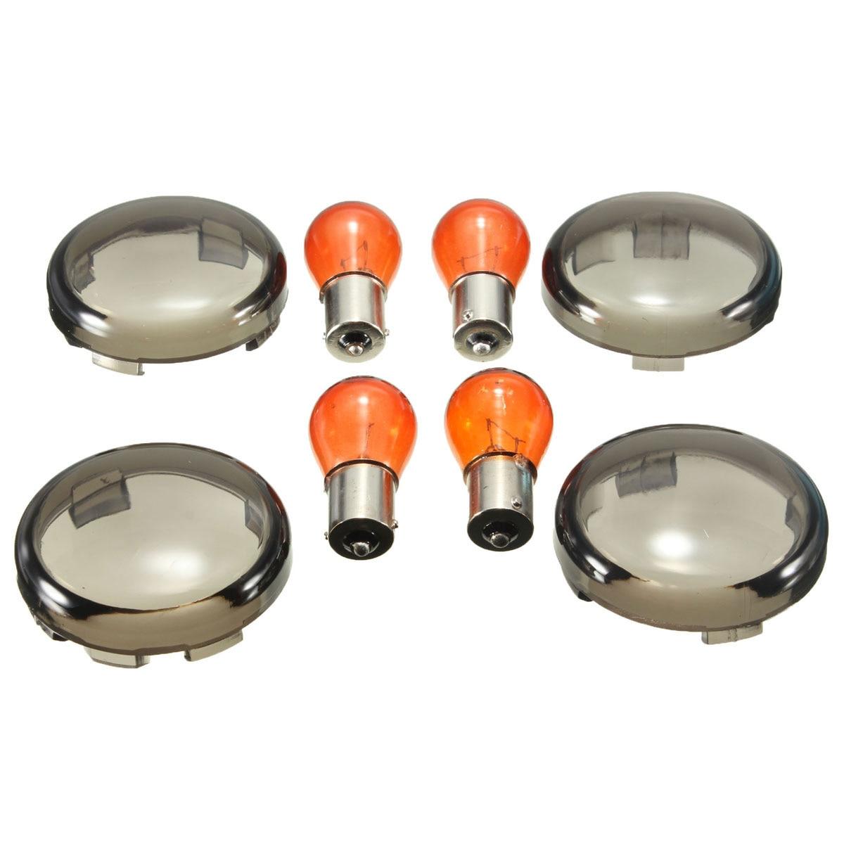 ᗜ lj 4 Pcs Ensemble Pour Harley Davidson Clignotant Ambre Ampoule Sportster Softail Dyna Lighting Comm U59