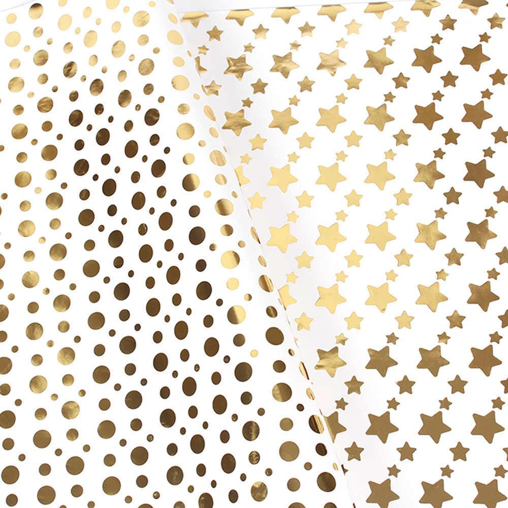 50x70 cm Hediye Şerit Tarzı sarma kağıdı rulosu Düğün Çocuklar için Doğum Günü Tatil Bebek Duş Hediye Paketi kraft el işi kağıdı Dekor Hediyeler