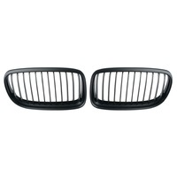 1 Pair Matte Black Dual Slat Style Front Center Kidney Racing Grilles For BMW 3 Series E90 E91 2009 2011 Car Grille Car Styling
