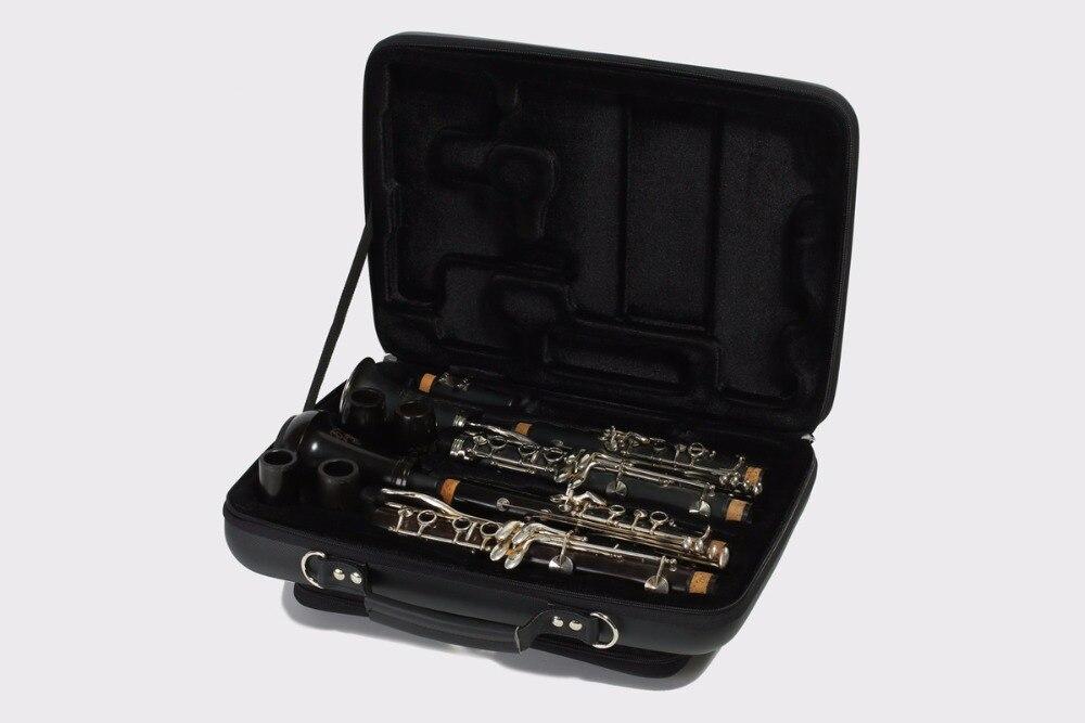 PU en forme de Double Clarinette cas pour Un et Bb Clarinette