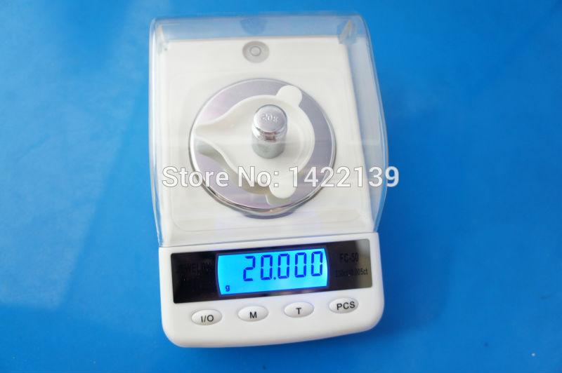 Balances électroniques numériques haute précision 50g x 0.001g FC50, balance en or carat, balance