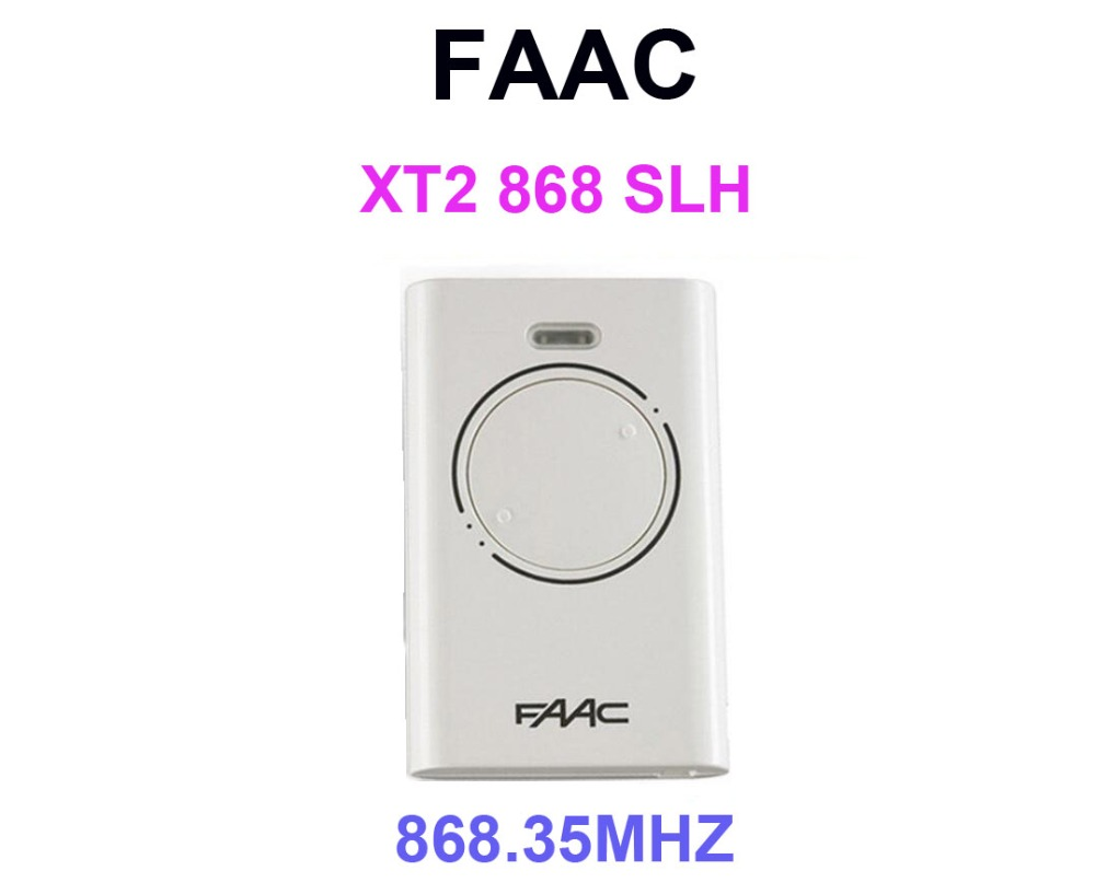 2pcs New For FAAC XT2 868 SLH LR (XT2 868 SLH) Hand Remote Control 868,35MHz Rolling code sommer remote control replacement 868 3mhz 4020 4025 4031 rolling code