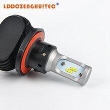 LDDCZENGHUITEC H7 светодиодный H4 H1 H3 H8 H9 H11 9006 9005 CSP чип-диод 50 Вт 8000LM автомобильных противотуманных фар с возможностью креативного светильник 6500 к стайлинга автомобилей