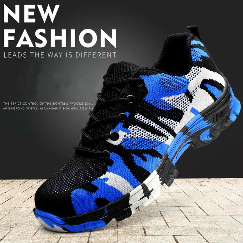 2018 nuevo romper y perforación zapatos de seguridad hombres zapatos