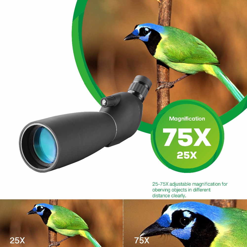25-75X70 Zoom Spotting Scope con trípode Tiro de objetivo de largo - Caza - foto 2