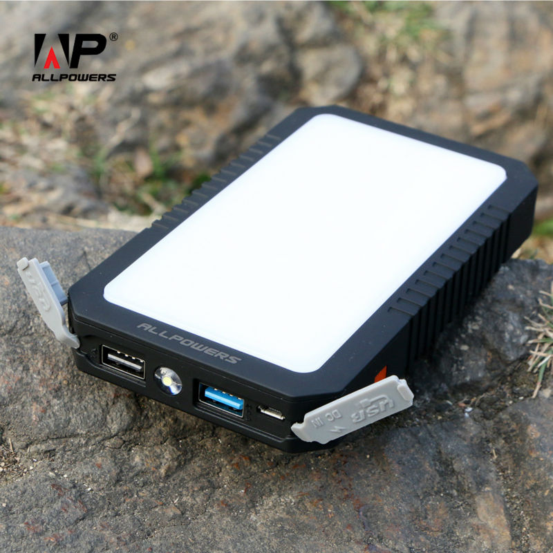 Allpowers 12000 mah banco portable de batería externa dual salida de carga usb p
