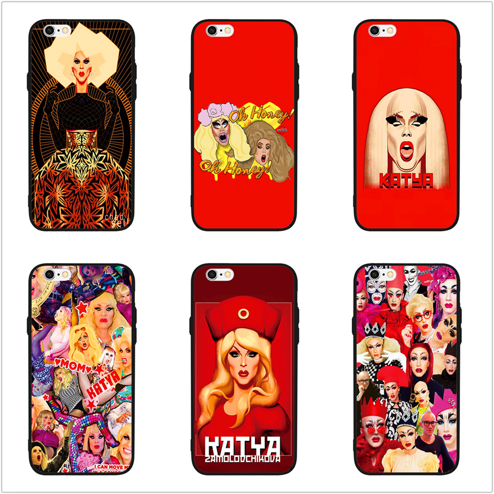 timeless design 998b8 b8cf5 US $2.0  FATPERSON Katya Zamolodchikova Party Rupaul Black cover Phone Case  For iphone 5 5S SE 6 6S 7 8 10 X Plus 7plus-in Fitted Cases from ...