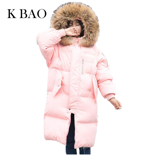 Raccon Fur Hood Parka Winter Jacket Women Thick Warm Cotton Winter Coat Women Casaco Manteau Femme High Quality coats