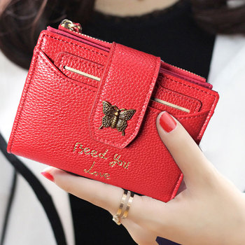 AOEO Small Wallet Female With Card Slots Coin Purse holder Cash Money Bag Multifunctional Women Wallets Ladies Purse For Girls