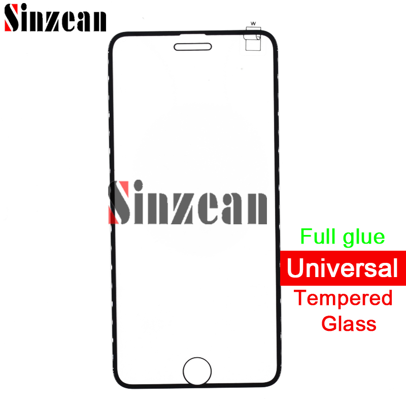 Sinzean 100pcs Top Universal Full cover Tempered glass screen Protector small color edge for iphone 8