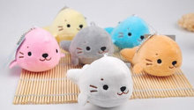 Cute 1X Random Color Sea Seal 10CM Plush Stuffed TOY DOLL Plush TOY , Wedding Bouquet TOY ; Plush Keychain TOY DOLL(China)