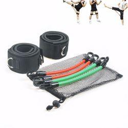 6 قطعة من أشرطة المقاومة للياقة البدنية ، انبوب مرن لتدريبات اللياقة البدنية ، مجموعة التدريب الرياضي