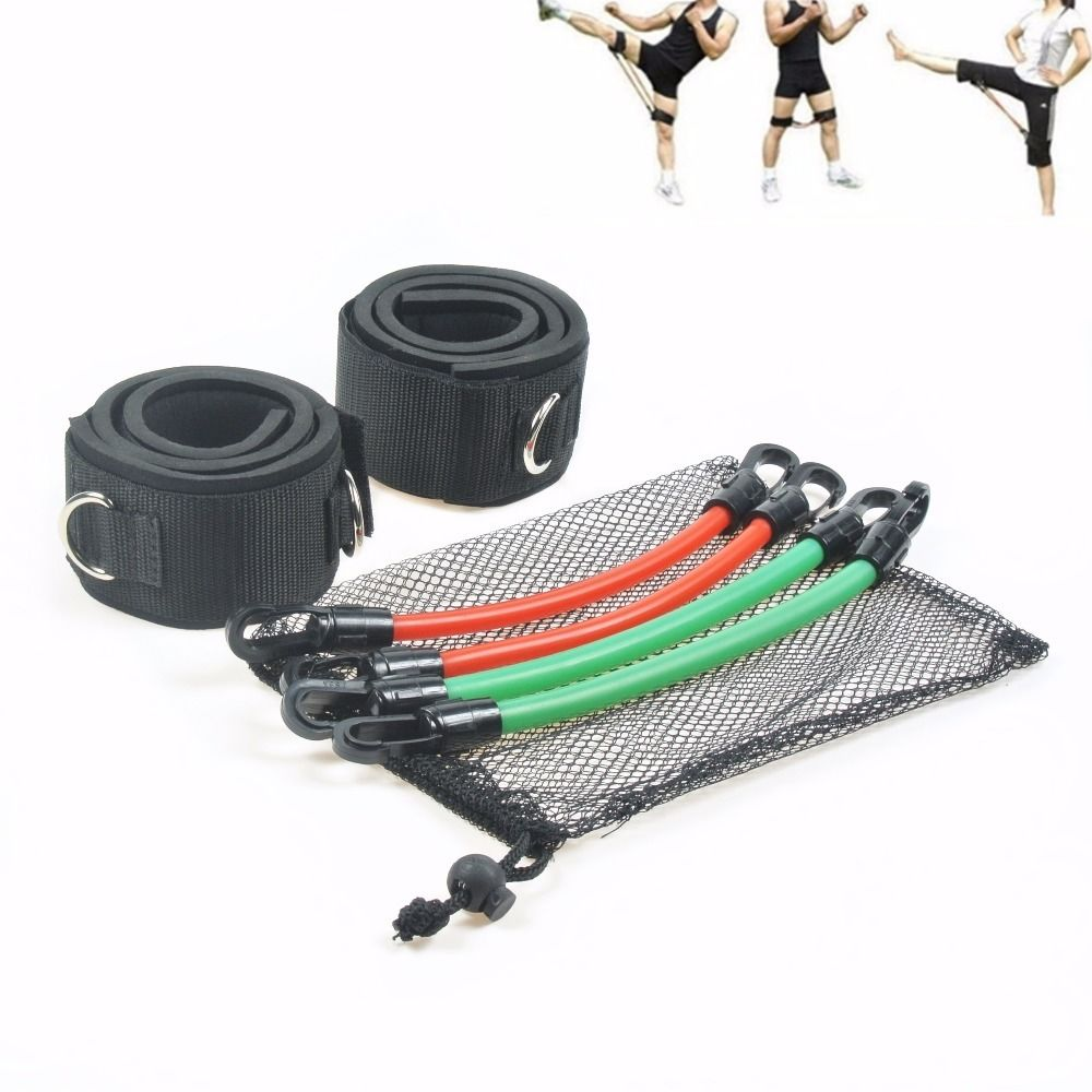 6 Pcs Fitness Resistance Bands Speed Agility Jump Training Elastic Tube Crossfit Band Musculation Exercise Workout Gym Equipment