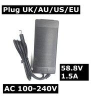 100 240V DC58 8V 1 5A Polymer Lithium Battery Charger DC 5 5MM 2 1MM Portable