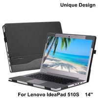 PU leather Case Cover for Lenovo Ideapad 510s 14 inch Laptop Bag Notebook Protective Sleeve Detachable Cover Pen as Gift
