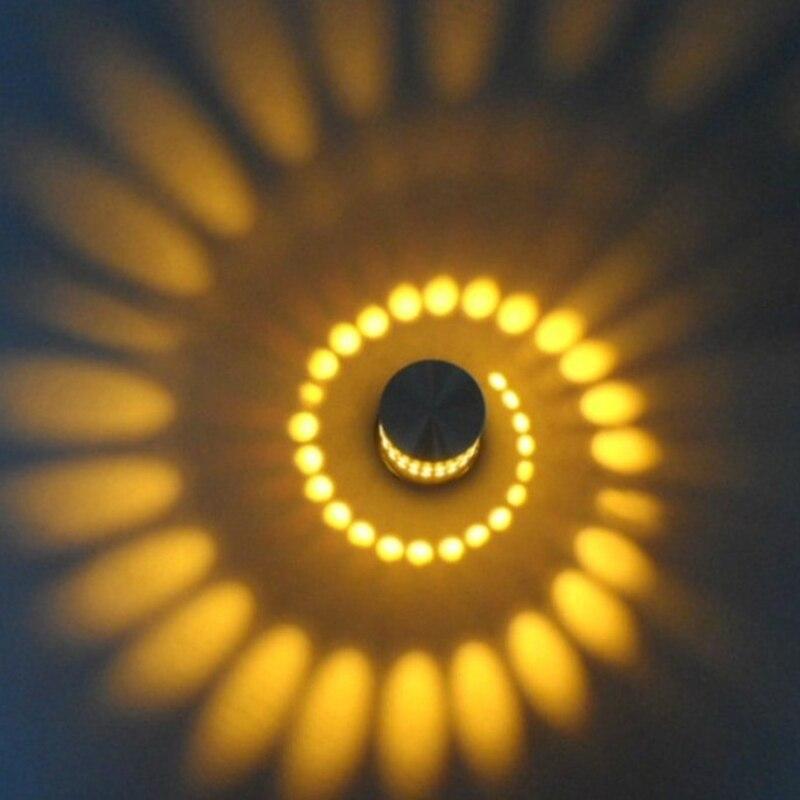 Creativo Luce Della Parete del LED RGB Lampada Da Parete Moderna Lampada Luminosa Illuminazione Sconce 3 W AC85-265V Parete interna Decorazione