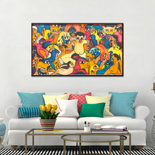 Abstract Graffiti Bite Thriller Posters And Prints Wall Picture For Living Room Home Decoration Canvas Painting(China)