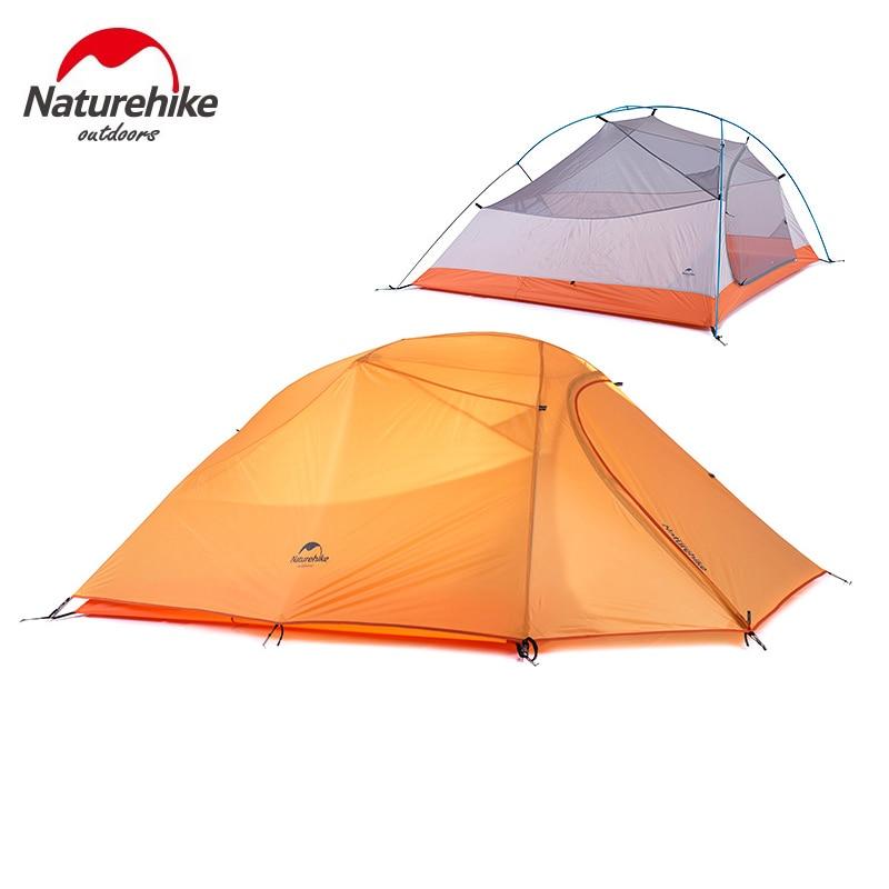 Nature randonnée 3 personnes ultra-léger tente Camping Double couche tente en plein air randonnée pique-nique étanche tente NH15T003-T - 2