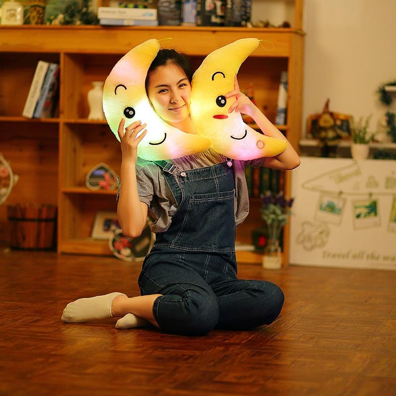 34 cm brinquedo criativo travesseiro luminoso macio