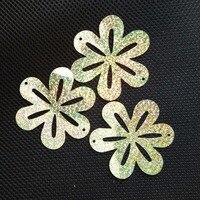 wholesale 86mm flower sequins for craft and decoration,hologram light gold