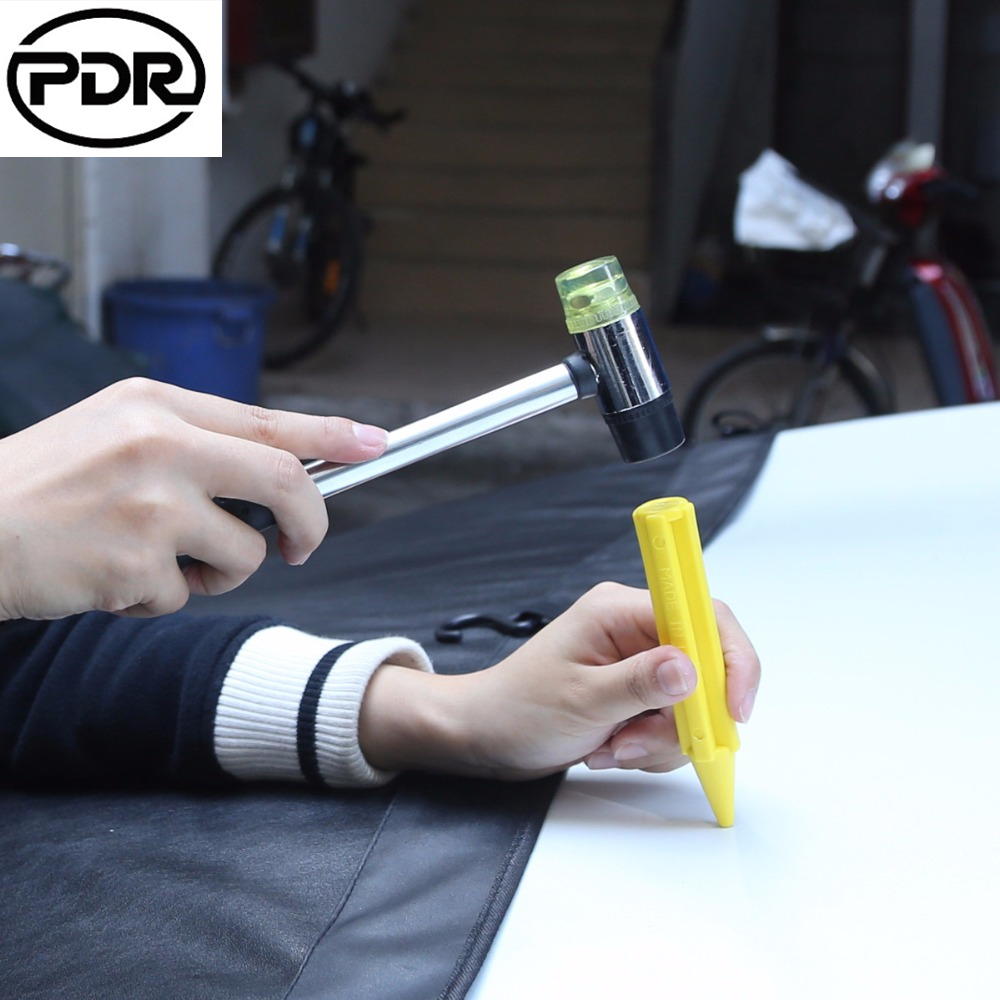 pdr-26cm-rubber-hammer-tool-double-faced-hammer-paintless-dent-repair-tools-hand-tools-kit-for-car-bodywork-repair
