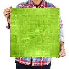 50*50 точек Классическая большая Базовая пластина для небольших кирпичей 40*40 см плинтуса DIY строительные блоки наборы деталей игрушки для детей