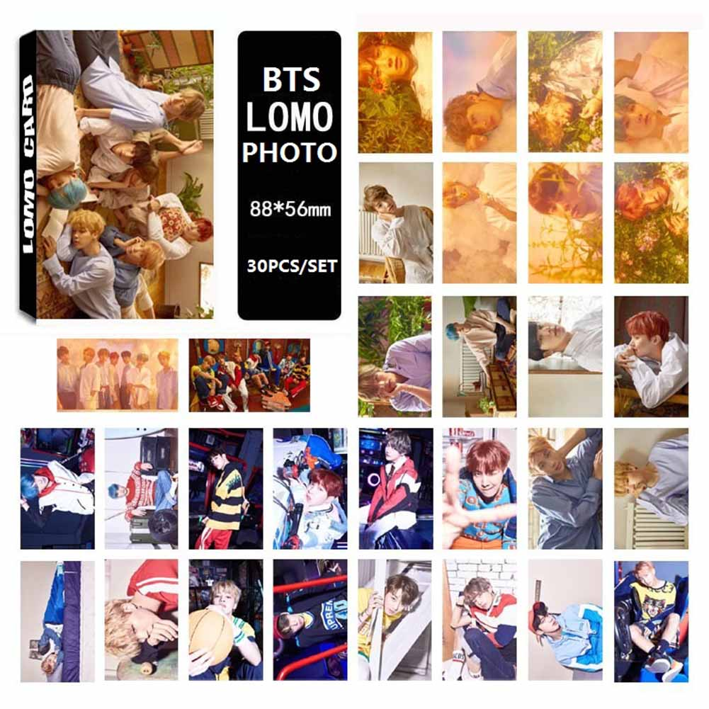 30pcs/set 2017 BTS Bangtan Boys YOU NEVER WALK ALONE Album LOMO Cards New Fashion Self Made Paper Photo Card HD Paper