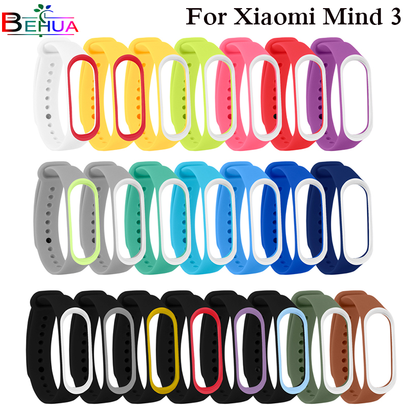 Watch Silicone For Xiaomi Mi Band 3 Smart Watch Wrist Strap Belt Colorful Wristband for Mi Band 3 Bracelet Watchband Accessories цена