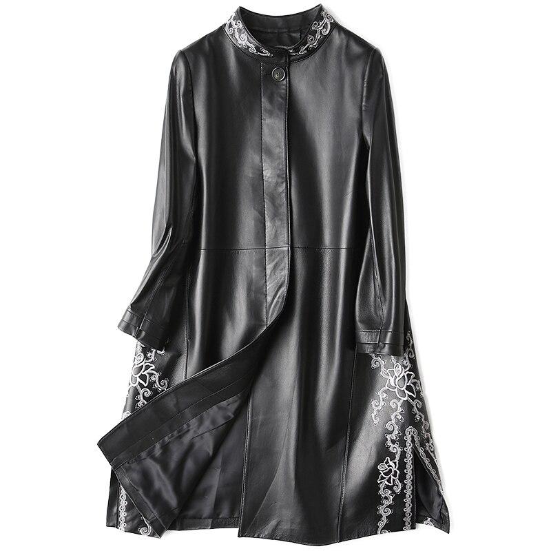 Sheepskin Coat Autumn Winter Coat Women Clothes 2019 Korean Real Genuine Leather Jacket Vintage Tops Manteau Femme Hiver ZT1175