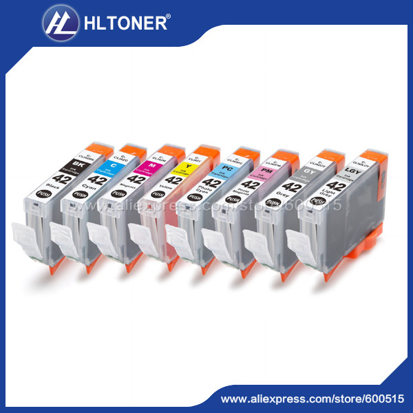 japan version 8pcs/set Compatible ink cartridge Canon CLI-43 CLI43  PGI-43 PGI43 for CANON  PIXMA Pro-100 8 pk perseus ink cartridge for canon cli 42 cli42 full 8 color compatible canon pixma pro 100 printer grade a
