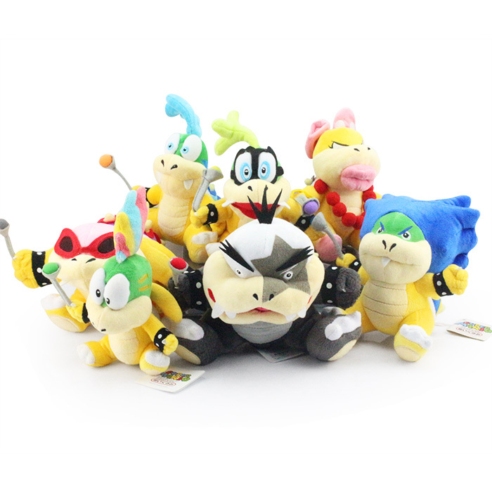 7pcs lot Super Mario Bros Plush Toys 7inch Koopa Series Plush Doll Wendy Larry Iggy Ludwig