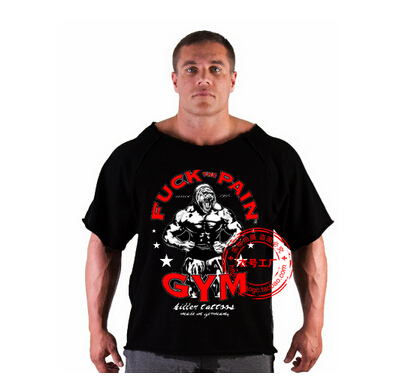 Men's T Shirts Golds Fitness Men Bodybuilding Gorilla Wear Shirt Batwing Sleeve Rag Tops