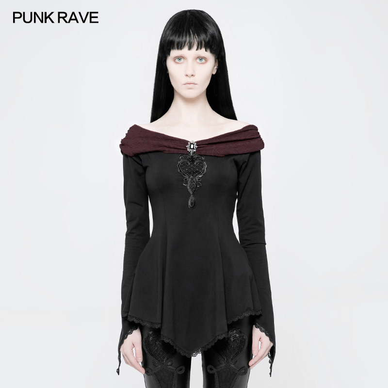 Punk Rave Gothic Gorgeous Long Sleeve T shirt Retro Vintage Fashion Visual Kei Victorian WT520
