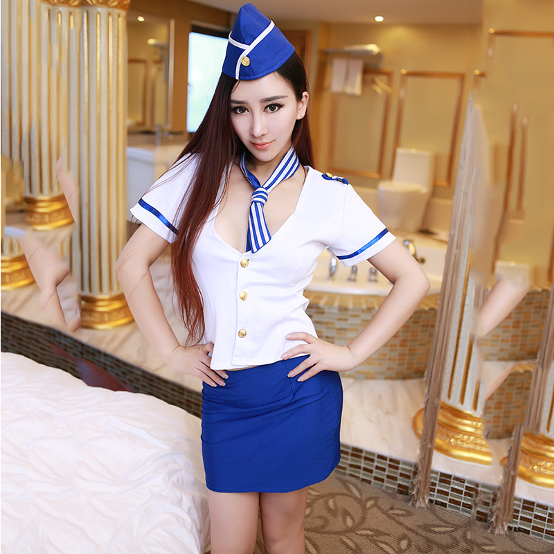 Women Nightclub Bar Office Lady Stewardess Uniforms Slim -6385