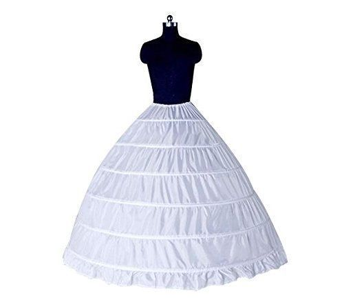 White 6 Hoop Wedding Petticoat Crinoline Underskirt Bridal Dress Ball Gown Marriage Gauze Skirt Wedding Accessories Slips New