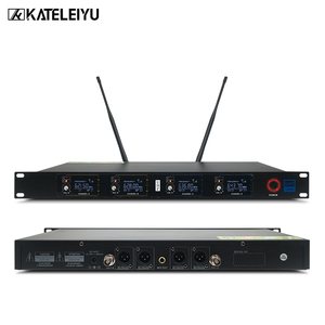 Image 2 - Top Professional 4 Channel UHF Wireless karaoke Microphone System with carry case handhled MIC for Stage Church wedding