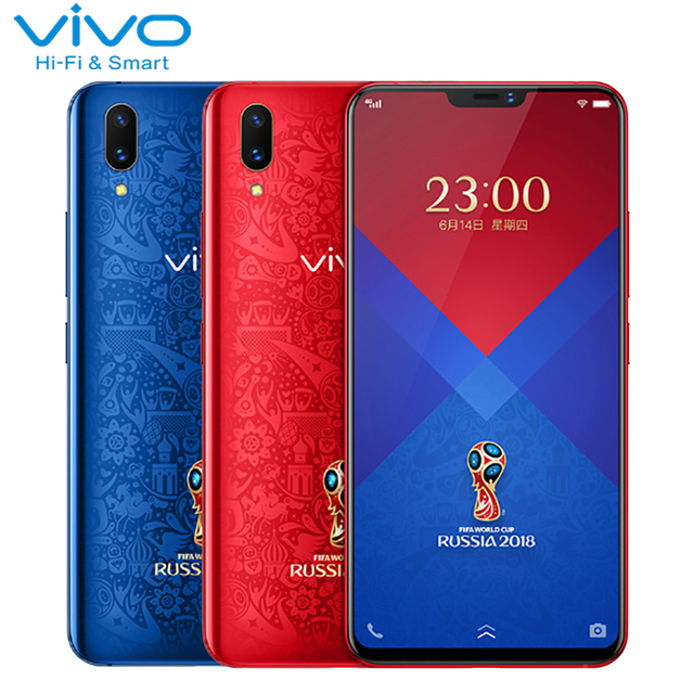 Vivo X21 Screen Fingerprint Mobile Phone 6.28 inch 6GB+128GB Snapdragon660 Octa Core Android 8.1 Face ID World Cup Smartphone